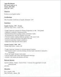 Resume Format For Teachers Best Teacher Resumes Images On Teaching Sample Position