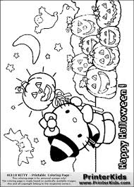 Free Coloring Pages Of Hello Kitty Halloween