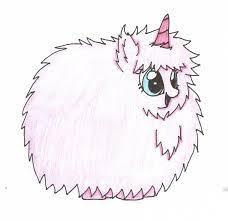 Pink Unicorn Tree Fluffy Drawing