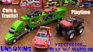 Toy Cars For Kids: Semi Truck Car Hauler Set, Monster Truck ... Toys Fire Truck Award Wning Monster Smash Ups Remote Control Rc Raptor Eco Toy Trucks Recycled Kids Toys Toy Cars Uncommongoods Kid Trax Mossy Oak Ram 3500 Dually 12v Battery Powered Rideon Tomy Big Farm 116 Peterbilt 367 W Flatbed John Deere For Kids Toysrus Magic Inductive Cartanktruck Toy Vehicle Follows Any Line You Crane Helps Truck Transport Lego Video Youtube Garbage Truck Boys The Amusing Animated Film Hui Na Toys 1586 118 24ghz 6ch Snow Sweeper Eeering
