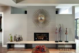 Living Room With Fireplace In The Middle by Room Guide Fireplace Visbeen Architects