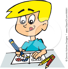 Boy Drawing Clipart