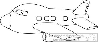airplane black white outline clipart 5772
