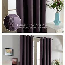 Insulated Window Curtain Liner by Top Finel Solid Thermal Insulated Blackout Curtains For Living