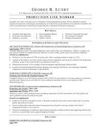 Assembly Line Worker Resume Unique Sample Objective For Production Refrence