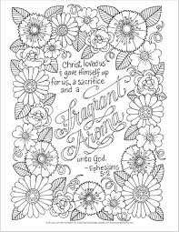 Adult Scripture Coloring Pages Best Bible