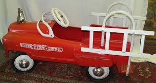 Old Vintage 1955 Original Murray Jet Flow Fire Dept Truck Pedal Car ...