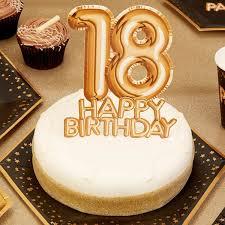 cake topper 18 happy birthday gold