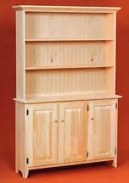 Image Is Loading AMISH Unfinished Solid Pine Rustic SIDEBOARD Buffet Storage