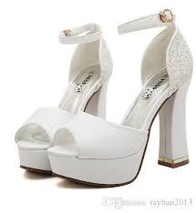 2015 Luxury Ivory White Glitter Wedding Shoes Sandals Elegant Bridal