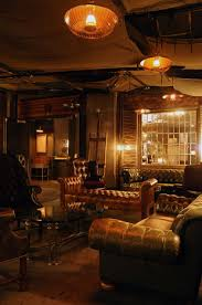 vintage furniture and dim lighting create a speakeasy vibe at h