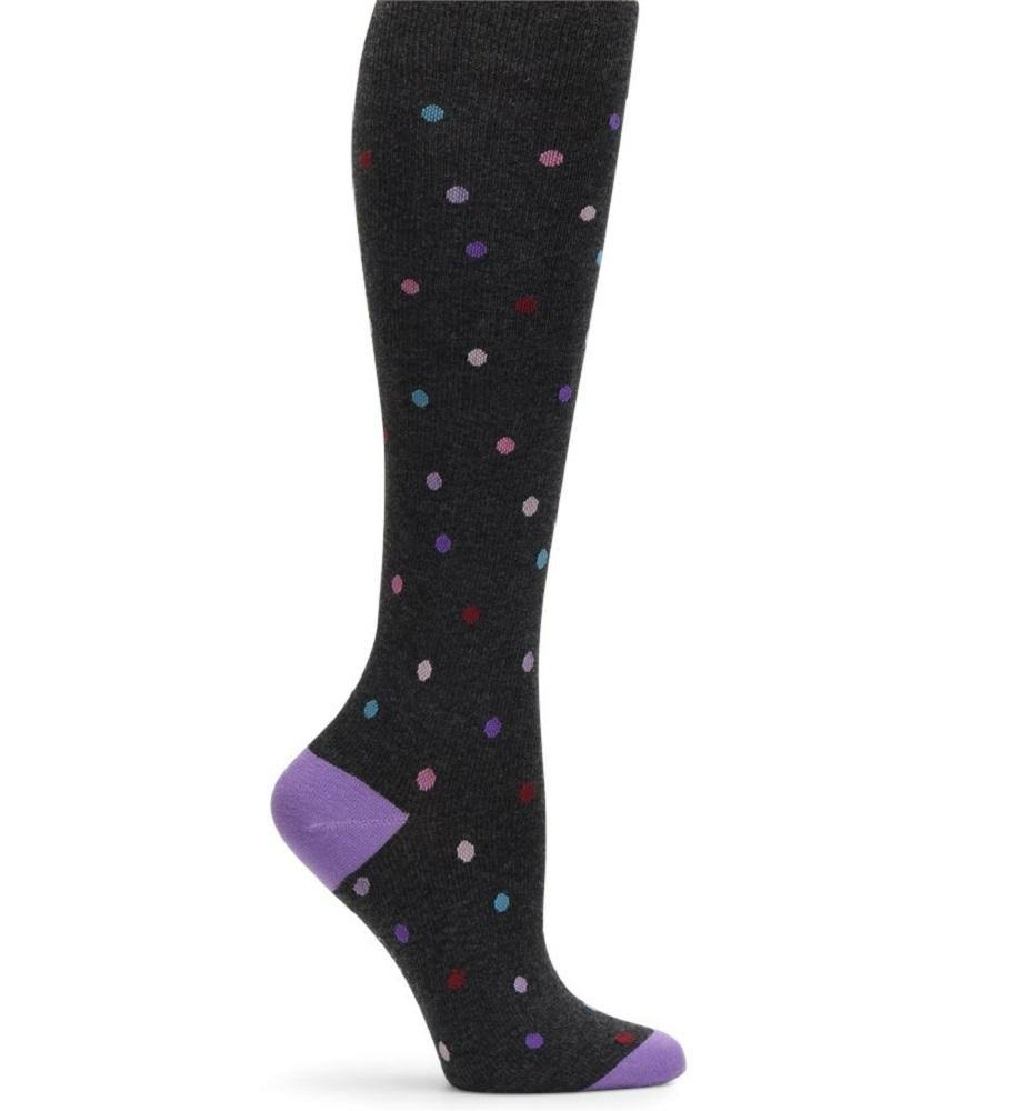 Nurse Mates Compression Socks Cashmere Charcoal Dot / 9-11