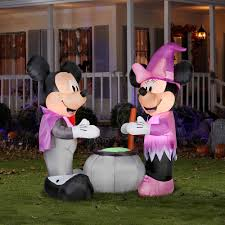 Disney Halloween Airblown Inflatables by Seasonal 6 Foot Airblown Vampire Mickey And Minni Walmart Com
