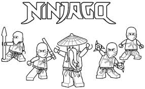 Lego Ninjago Colouring Pages