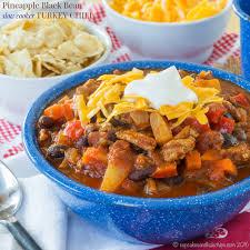 Crustless Pumpkin Pie Slow Cooker by Pineapple Black Bean Slow Cooker Turkey Chili Cupcakes U0026 Kale Chips
