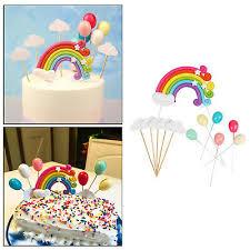 12 teile paket regenbogen wolke kuchen topper geburtstag