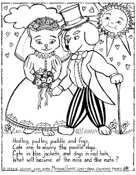 Cats Are The Marry Poodle Dogs Coloring Page