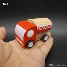 100 Truck Pull Games Exquisite Baby Toys Wooden Tank Lorry Educational Vehicle