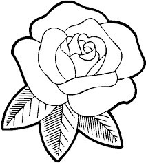 Printable Rose Flower Coloring Pages For Preschoolers 269x300