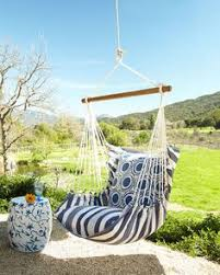 Knotted Melati Hanging Chair Natural Motif by My Sweet Savannah Hanging Swing Chair Love Swinging Chairs