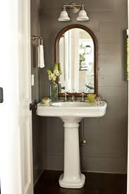 Vanity Table With Lights Around Mirror by Top 25 Best Pedestal Sink Bathroom Ideas On Pinterest Pedistal