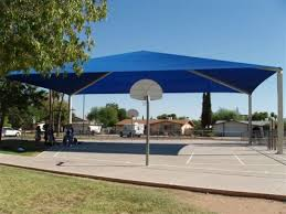 Shade Canopy Outdoor Basketball Court 1