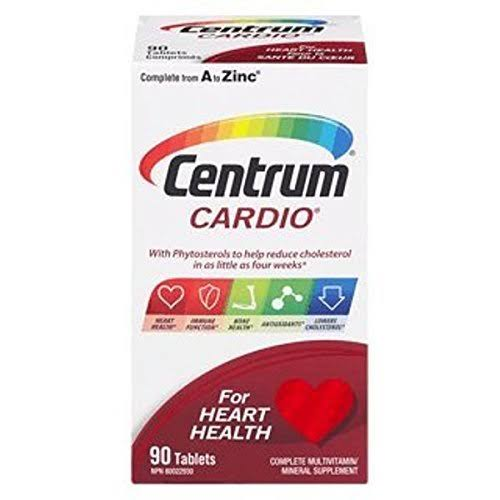 Centrum Cardio Multivitamin, 50 Tablets