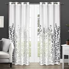 Bed Bath And Beyond Sheer Window Curtains by Wilshire 84 Inch Sheer Grommet Top Window Curtain Panel Pair In