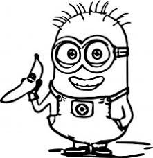 Minions Coloring Pages With Banana