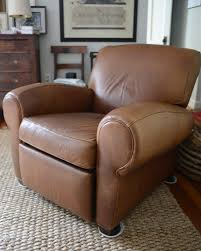 Pottery Barn Mitchell Gold leather reclining chair in Woodley Park