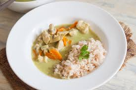 Thai Green Pumpkin Curry Recipe by Thai Green Curry With Chicken U0026 Red Rice Recipe By Archana U0027s