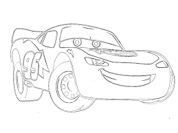 Download Coloring Pages Mcqueen Car Page Printable Lightning Free Large Images