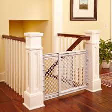 Awesome Collection Of North States Heavy Duty Stairway Baby Gate ... Infant Safety Gates For Stairs With Rod Iron Railings Child Safe Plexiglass Banister Shield Baby Homes Kidproofing The Banister From Incomplete Guide To Living Gate For With Diy Best Products Proofing Montgomery Gallery In Houston Tx Precious And Wall Proof Ideas Collection Of Solutions Cheap Way A Stairway Plexi Glass Long Island Ny Youtube Safety Stair Railings Fabric Weaved Through Spindles Children Och Balustrades Weland Ab