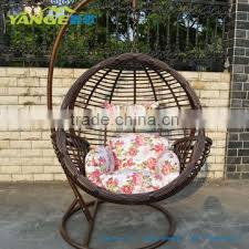 Rattan Hanging Chair Swing Egg Round With Stand