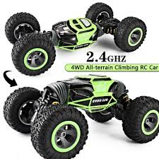 100 4wd Truck RC Car 4WD Scale Double Sided 24GHz One Key Transformation
