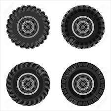 100 Gear Truck Wheels Set Of With Steel Isolated On White Background