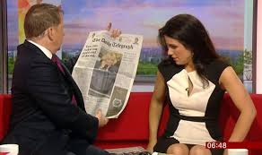 Susanna Reid BBC Breakfast Flashes Her Knickers Underwear Sofa Black And