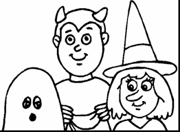 Scary Halloween Coloring Pictures To Print by Marvelous Happy Halloween Coloring Pages To Print With Halloween