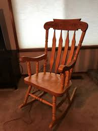 Lot # 103 - Nice Oak Rocking Chair Auction By Adam's ... Traditional Wooden Rocking Chair White Palm Harbor Wicker Rocking Chair Pong Rockingchair Oak Veneer Hillared Anthracite Ikea Royal Oak Rover Buy Ivy Terrace Classics Mahogany Patio Rocker Vintage With Pressed Back Jack Post Childrens Childs Antique Chairs Mission Armchair Tiger Styles In Huntly Aberdeenshire Gumtree Solid Rocking Chair