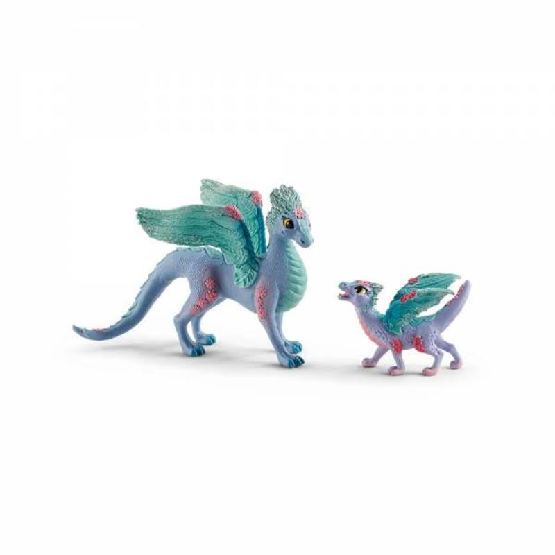 Schleich Bayala Blossom Dragon Mother and Baby Toy Figures (70592)