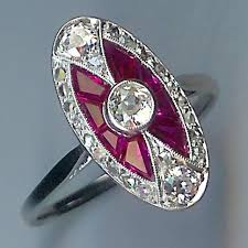 deco ruby and ring thrilling ruby colour deco cluster ring sh10144