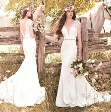 New Country Wedding Dresses Lace Or Dress Bridal Backless Vintage