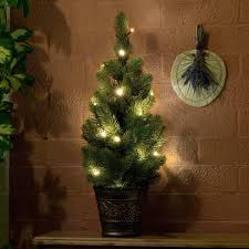 Potted Christmas Tree by Battery Pre Lit Green Artificial Potted Real Feel Pe Christmas Tree