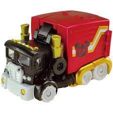 100 Mickey Mouse Fire Truck Takara Tomy Transformers Disney Label Trailer