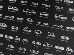 Trucks & Buses (and A Couple Of Tractors Too) Icons On Behance