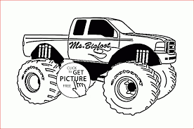 Monster Truck Drawing 68688 Mr Bigfoot Monster Truck Coloring Page ...