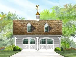 063G 0003 Country Style 2 Car Garage Plan With Loft