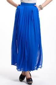 charlie jade aerophone silk maxi skirt in blue lyst