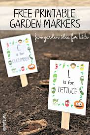 Free Printable Garden Markers Your Kids Will Love