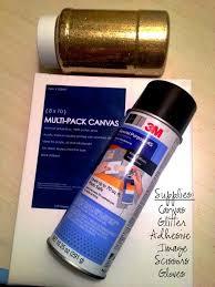 DIY Glitter Canvas Art Supplies